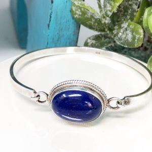 Jewelry - Lapis Lazuli 925 Hook-On Cuff Bracelet~Destiny